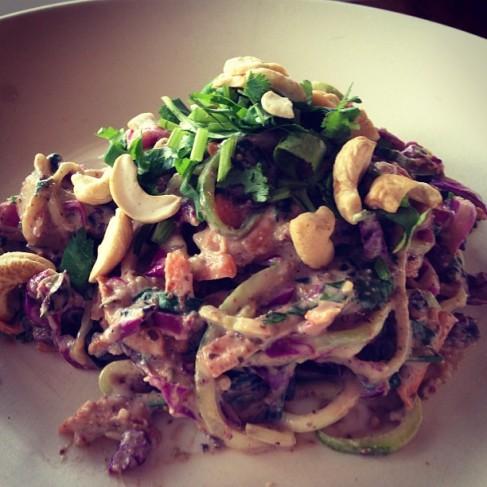 Raw Vegan Satay Noodles