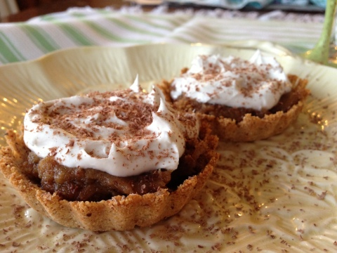 Ginger tarts with whipped coconut cream
